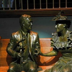 Roy Acuff and Minnie Pearl Sculptures