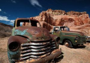 Old trucks Route 66